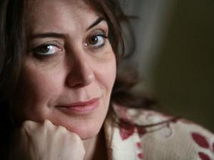 Italian director Sabina Guzzanti poses a